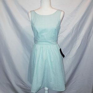 NWT Lauren James Sz Small Green White Dress